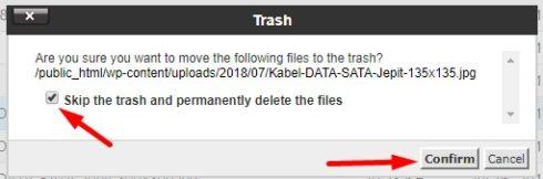 delete permanent cpanel