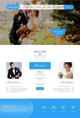 Desain website wedding invitations 2