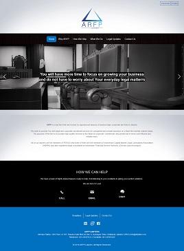 contoh desain website hukum dan pengacara