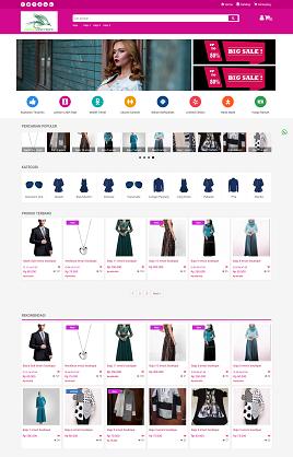 desain website toko online - ernasboutique.com