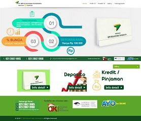 contoh desain website bpr - www.bprmuliatama.co.id