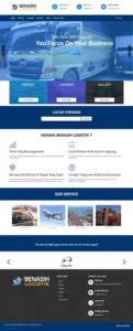 contoh desain website company profile - www.benasih.com