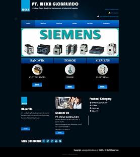 contoh desain website company profile - www.wekaglobalindo.co.id