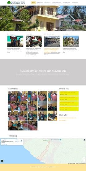 contoh desain website desa - www.desawarupelesatu.com