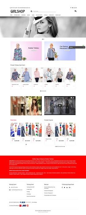 contoh desain website e-commerce - www.girlshop.id