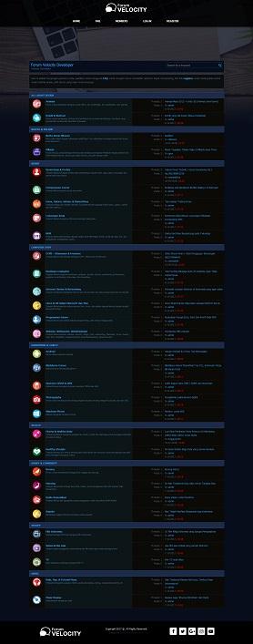 contoh desain website forum - www.forum.velocitydeveloper.com