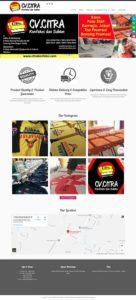 contoh desain website konveksi - www.citrakonfeksi.com
