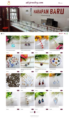 contoh desain website online shop - www.ak-jewelry.com