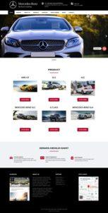 contoh desain website otomotif - www.dealermercedes.com