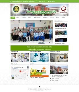 contoh desain website rumahsakit - www.rspkucepu.com