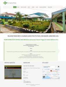 contoh desain website rumahsakit - www.rssantaanna.com
