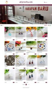 contoh desain website toko online - www.ak-jewelry.com