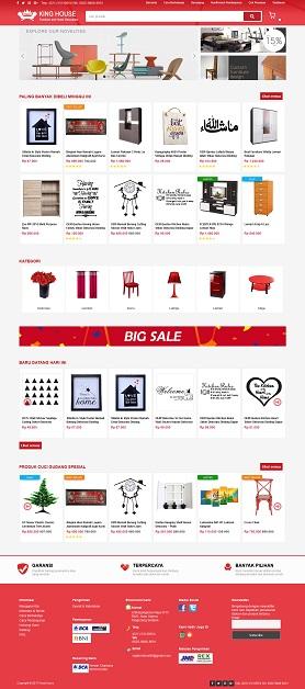 contoh desain website toko online - www.rajafurnitureonline.com