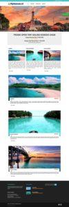 contoh desain website tour - www.tripindonesia.id