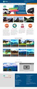 contoh desain website travel - www.padangwisatatour.com