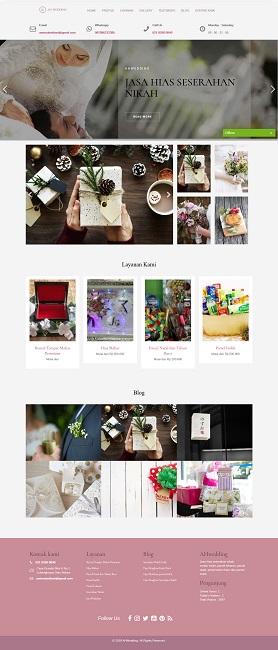 contoh desain website wedding - www.seserahanikah.com