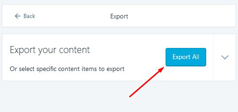 export all data blog wordpress