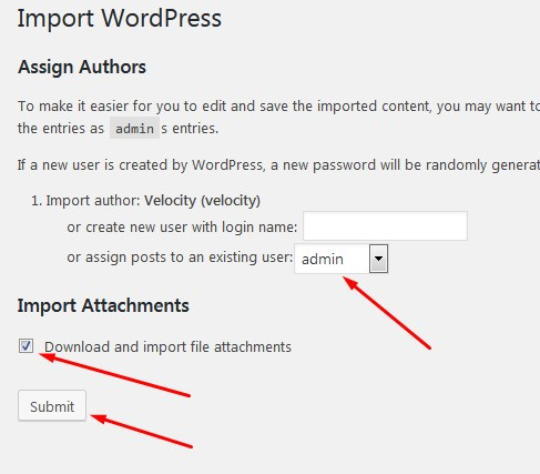 import data blog wordpress assign authors