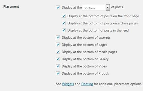 AddToAny Share Buttons Settings