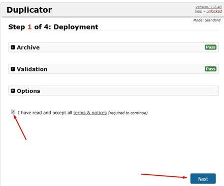Duplicator Install Web