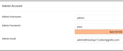 Install WordPress Admin Account
