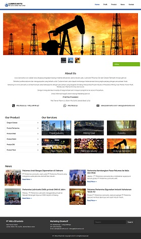 contoh desain website company profile - www.lubricants.co.id