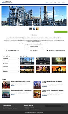 contoh website company profile