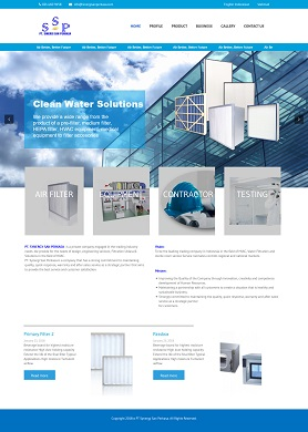 contoh desain website company profile - www.sinergisanperkasa.com