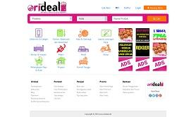 contoh desain website marketplace - www.orideal.net