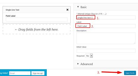 Custom Contact Forms Field Setting