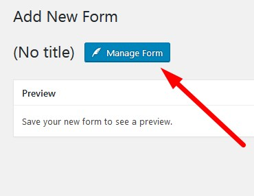 Custom Contact Forms Manage Form