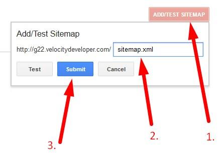 Google Webmaster Tool Add Sitemap