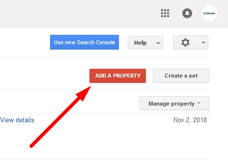 Google Webmaster Tool Add a Property