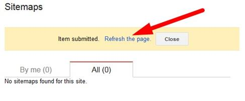 Google Webmaster Tool Refresh