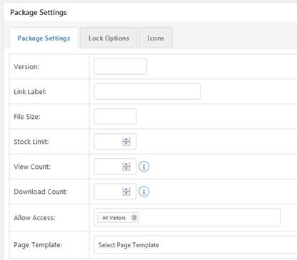 Wordpress Download Manager Package Settings