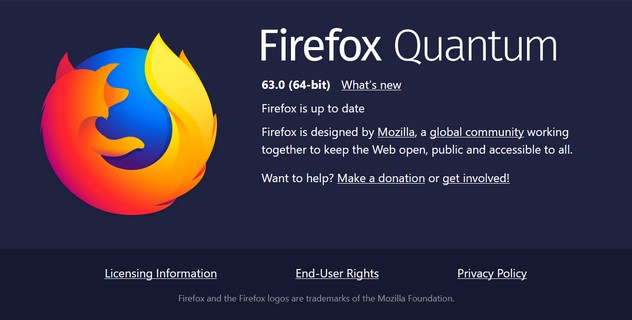Browser Firefox 63