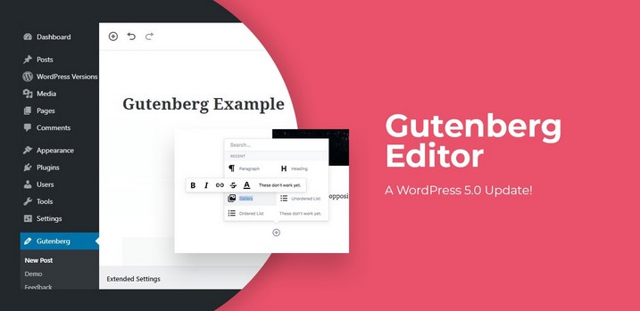 Wordpress 5.0 Gutenberg Editor