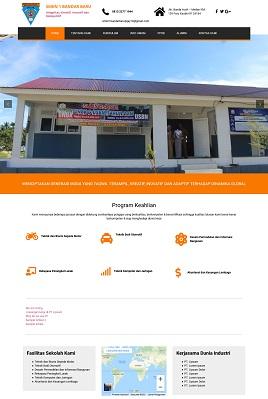 Desain Website PPDB www.smkn1bandarbaru.sch.id