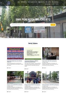 Desain Website PPDB www.smkpgri-kotamojokerto.id