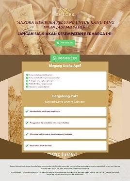 contoh desain paket landingpage custom anzoraindonesia