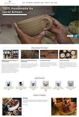 contoh desain toko online custom peniclayceramics